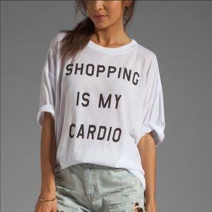 Wildfox shopping is my cardio tee shirt sz XS